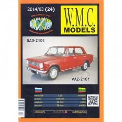 Popierinis legendinio lengvojo automobilio VAZ 2101 (žiguliuko) modelis