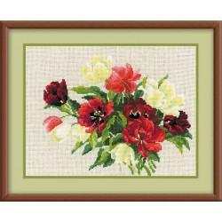 """RIOLIS - Create It Yourself - Siuvinėjimo rinkinys """"Tulpės"""" 1065 (30x24 cm)"""