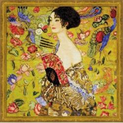 """RIOLIS - Create It Yourself - Siuvinėjimo rinkinys """"Panelė su veduokle"""" 1226 (35x35 cm)"""