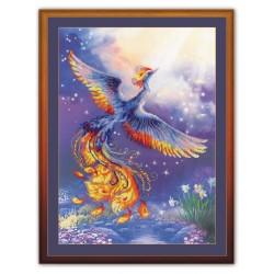 """RIOLIS: Siuvinėjimo rinkinys su ant medžiagos atspaustu piešiniu """"Laimės paukštis"""" 0034 PT (30x40 cm)"""