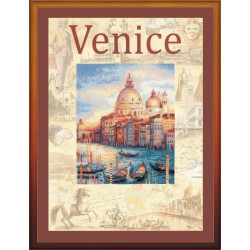 """RIOLIS: Siuvinėjimo rinkinys su ant medžiagos atspaustu piešiniu """"Venecija"""" 0030 PT (30x40 cm)"""