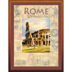 """RIOLIS: Siuvinėjimo rinkinys su ant medžiagos atspaustu piešiniu """"Roma"""" 0026 PT (30x40 cm)"""