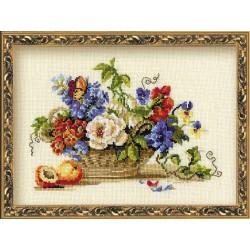 """RIOLIS – Create It Yourself – Siuvinėjimo rinkinys """"Natiurmortas su persiku"""" 864 (30x24 cm)"""