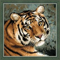 """RIOLIS – Create It Yourself – Siuvinėjimo rinkinys """"Sibiro tigras"""" 1282 (40x40 cm)"""