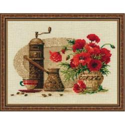 """RIOLIS – Create It Yourself – Siuvinėjimo rinkinys """"Kava"""" 1121 (30x24 cm)"""