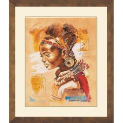 """Lanarte: Siuvinėjimo rinkinys """"Afrikietė"""" PN/0008009 (39x49 cm)"""