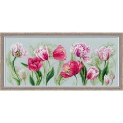 """RIOLIS - Premium - Siuvinėjimo rinkinys """"Pavasariškos tulpės"""" 100/052 (70x30 cm)"""