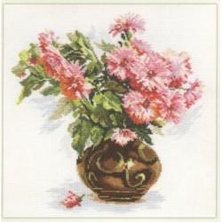 """Alisa Siuvinėjimo rinkinys """"Rožinė puokštė"""" 2-09 (26x29 cm)"""