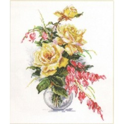 """Alisa Siuvinėjimo rinkinys """"Geltonos rožės"""" 2-20 (21x29 cm)"""