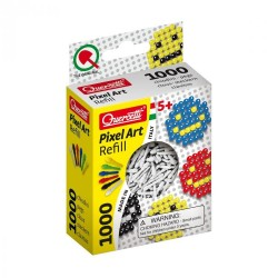 Quercetti Pixel Art baltų kaištelių papildymas 1000vnt