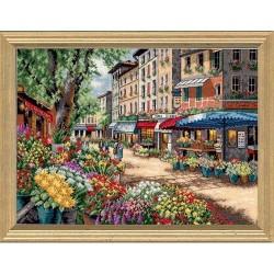 """DIMENSIONS Siuvinėjimo rinkinys """"Paryžiaus turgus"""" 35256 (38x28 cm)"""