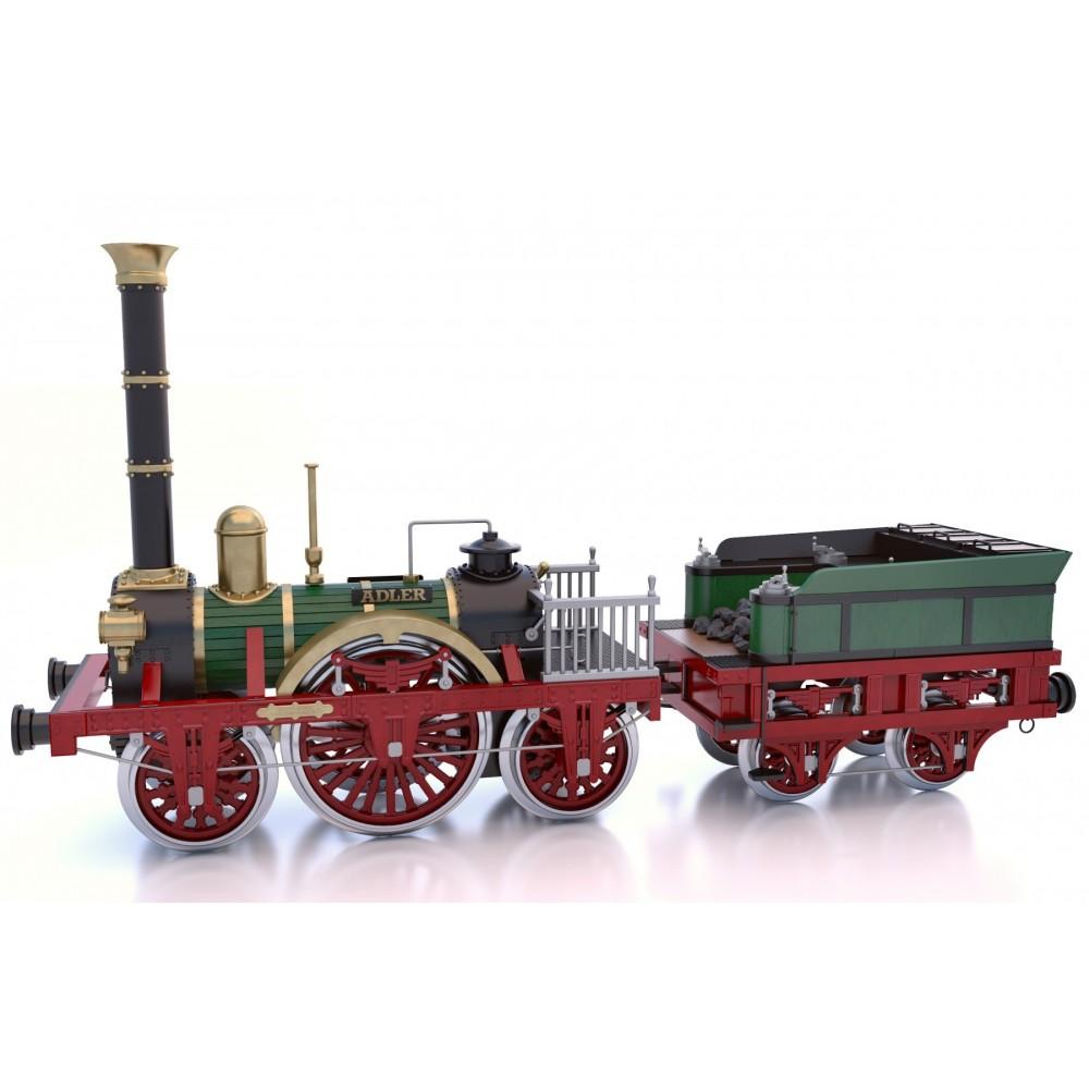 Occre Adler Steam Train Locomotive 124 Scale Woodmetal Model Kit