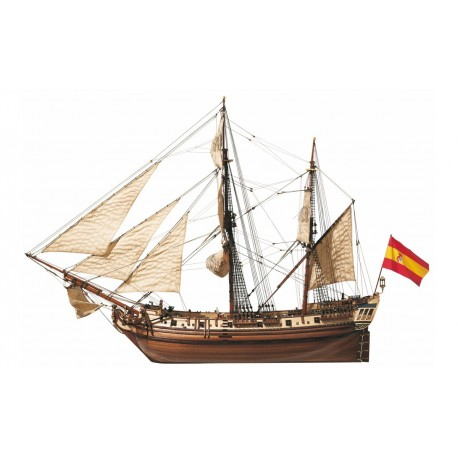 Occre La Candelaria 1 85 Scale Wood Model Ship Kit 13000
