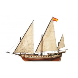 Occre Cazador 1:60 Scale Wood Model Ship Kit 14002