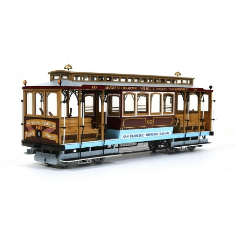Occre San Francisco Cable Car 1:24 Scale Wood & Metal Model Kit 53007