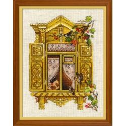 Window With Sparrows siuvinėjimo rinkinys iš RIOLIS Nr.: 1731
