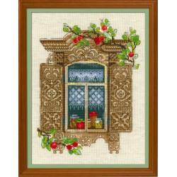 Window With Apples siuvinėjimo rinkinys iš RIOLIS Nr.: 1732