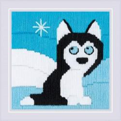 Husky in Snowdrifts siuvinėjimo rinkinys iš RIOLIS Nr.: 1716