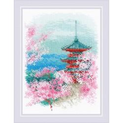 Sakura. Pagoda siuvinėjimo rinkinys iš RIOLIS Nr.: 1743