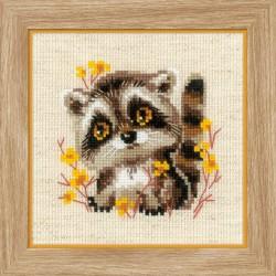 Little Raccoon siuvinėjimo rinkinys iš RIOLIS Nr.: 1754