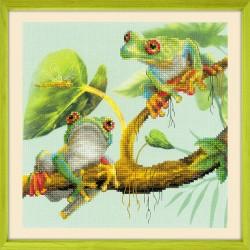 Frogs siuvinėjimo rinkinys iš RIOLIS Nr.: 0083 PT