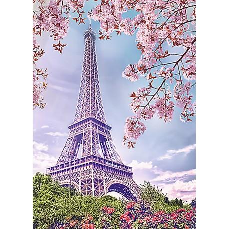 Deimantinis paveikslas Spring in Paris WD124 27*38 cm
