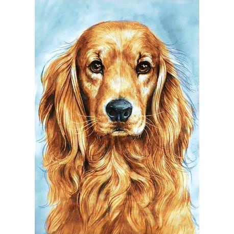 Diamond painting kit Faithful Dog WD180