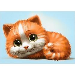 Deimantinis paveikslas Ginger Cat WD194 30*20 cm
