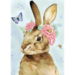 Deimantinis paveikslas Easter Rabbit WD221 27*38 cm