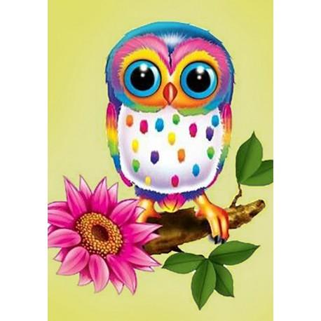 Diamond painting kit Owl Maia WD248