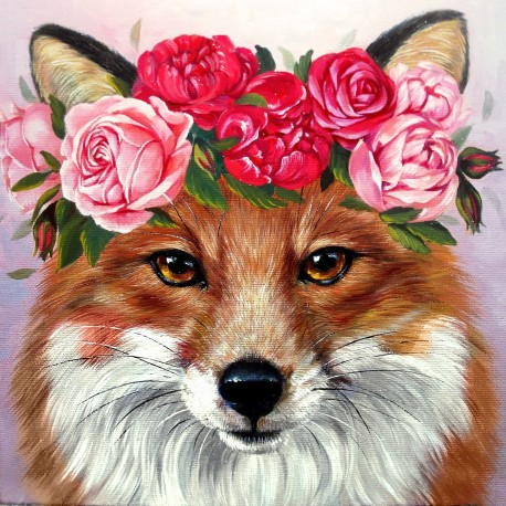 Diamond painting kit Foxy Lady WD271