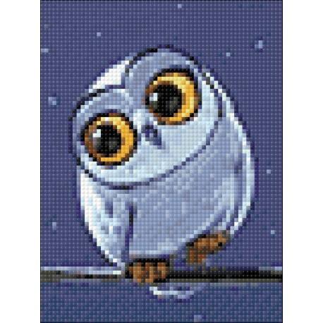 Diamond painting kit Owlet WD278