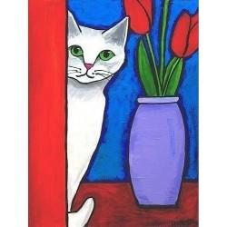 Deimantinis paveikslas White Cat WD283 15*20 cm