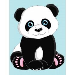 Deimantinis paveikslas Panda WD303 15*20 cm