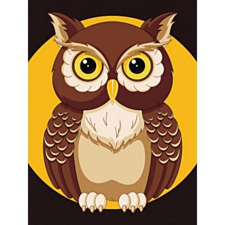 Diamond painting kit Night Owl WD308