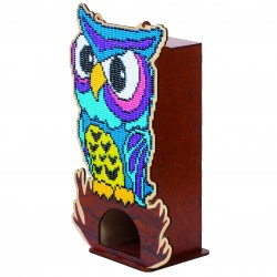 Deimantinės mozaikos suvenyras Owl WW003