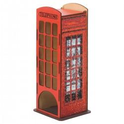 Deimantinės mozaikos suvenyras Telephone Booth WW004