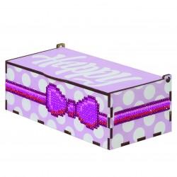 Deimantinės mozaikos suvenyras Happy - Pink WW057