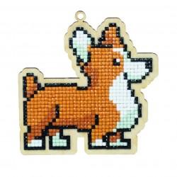 Deimantinės mozaikos suvenyras Dog Rocky WW106