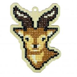 Deimantinės mozaikos suvenyras Mountain Deer WW128