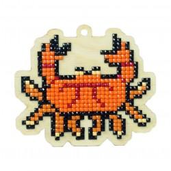 Deimantinės mozaikos suvenyras Crab Oliver WW145