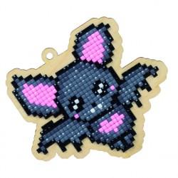 Deimantinės mozaikos suvenyras Love Bat WW149