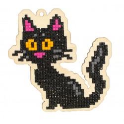 Deimantinės mozaikos suvenyras Black Cat WW193