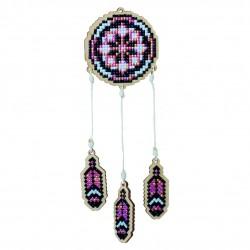 Deimantinės mozaikos suvenyras Dreamcatcher - Pink WW202
