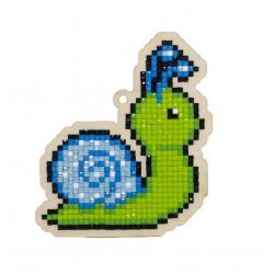Deimantinės mozaikos suvenyras Blue Snail WW265