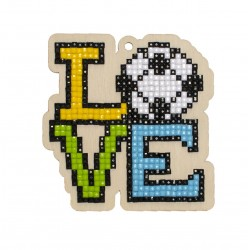 Deimantinės mozaikos suvenyras Love Football WW298