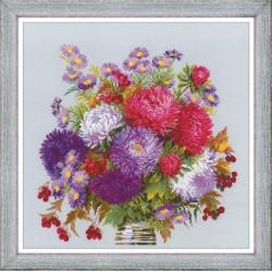 Bouquet with Asters siuvinėjimo rinkinys iš RIOLIS Nr.: 1773