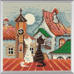 City & Cats Spring diamond mosaic kit by RIOLIS Ref. no.: AM0011