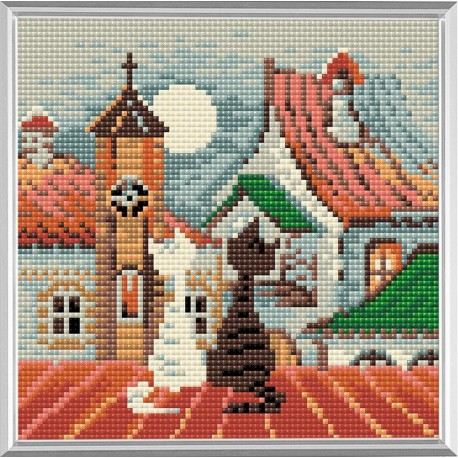 City & Cats Spring diamond mosaic kit by RIOLIS Ref. no.: AM0011