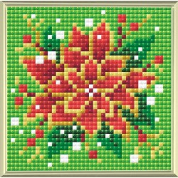 Poinsettia diamond mosaic kit by RIOLIS Ref. no.: AM0019